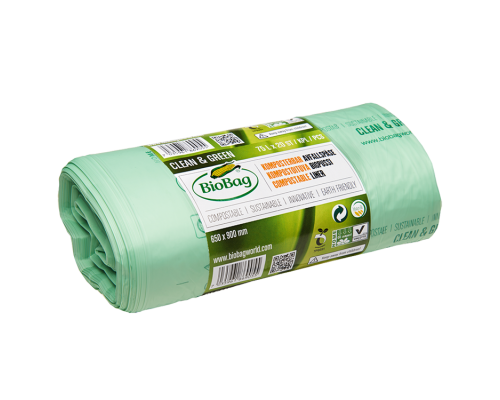 Мусорные пакеты BioBag компостируемые, 75л, 20 шт