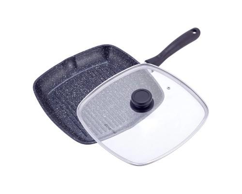 Сковорода-гриль с крышкой и антипригарным покрытием 28*28*4,5см