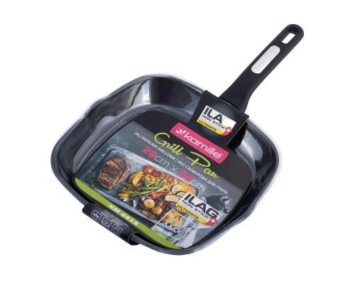 Сковорода-гриль  со сверхпрочным антипригарным покрытием ILAG, 28*28*4см