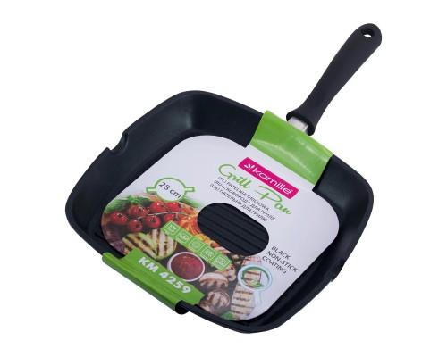 Сковорода-гриль  с антипригарным покрытием 27,5*27,5*4см