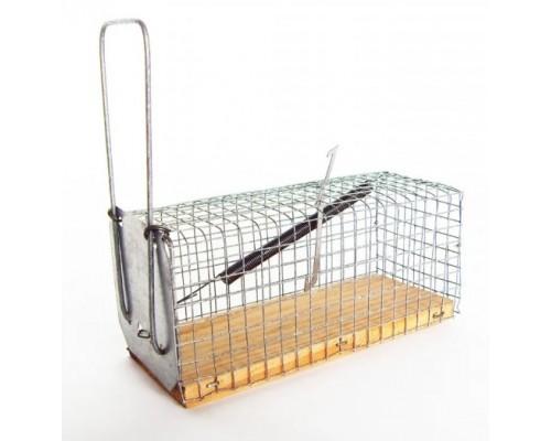 Крысоловка-клетка на деревянной основе Chomik