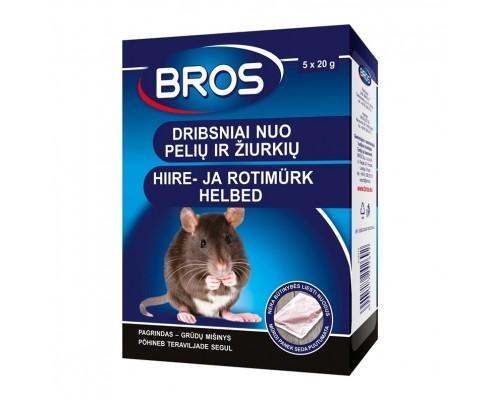Средство от мышей и крыс хлопья 100 г, Bros