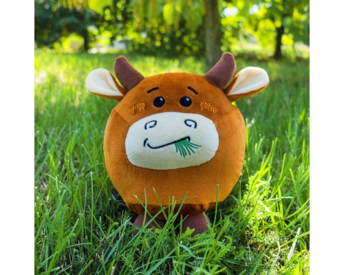 Мягкая игрушка бык Эрба, 22см
