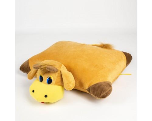 Мягкая игрушка, подушка Бычок 37см