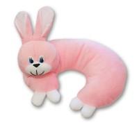 Мягкая игрушка-подушка Заяц, 33см розовый