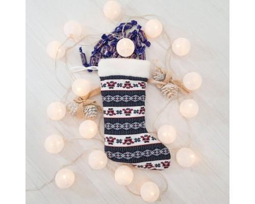 Новогодний сапог подарочный Санта Клаус,  37см