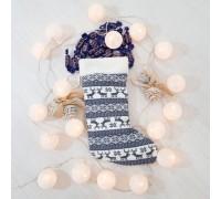 Новогодний сапог подарочный Олени,  37см