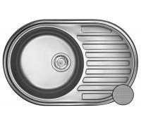 Кухонная мойка Galaţi Dana Textura 77*50см с крылом овальная