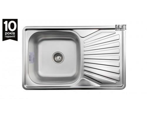 Кухонная мойка Galaţi Constanta Satin 78*48см с крылом