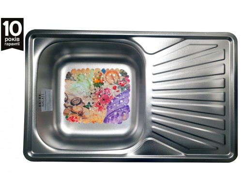 Кухонная мойка Galaţi Constanta Textură 78*48см с крылом