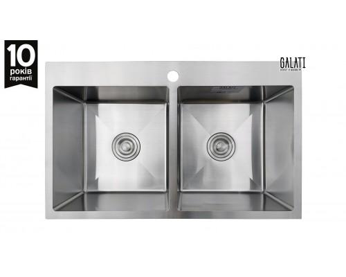 Кухонная мойка Galati Arta U-730DN 78*48см. две чаши