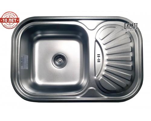 Кухонная мойка Galaţi Stelă Satin 75*49см. верхний перелив
