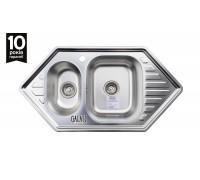 Кухонная мойка Galaţi Meduză Textura 1,5C 95*50см угловая с двумя крылами
