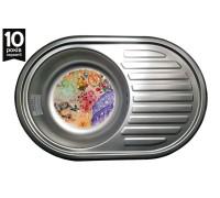 Кухонная мойка Galaţi Dana Eco Textura 77*50см с крылом овальная