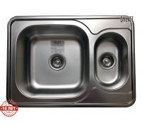 Кухонная мойка двойная Galaţi Fifika 1.5C Textura 70*50см. с дополнительной чашей