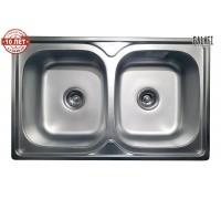 Кухонная мойка двойная Galaţi Fifika 2C Textură 78*48см, две чаши