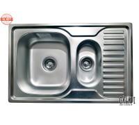 Кухонная мойка с дополнительной чашей Galaţi Petrika Satin 78*50см