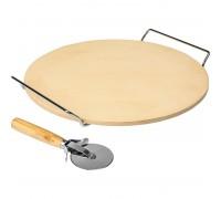 Камень для пиццы, Biowin с ручками и ножом