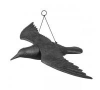 Отпугиватель птиц. Ворона в полете, Bradas черный
