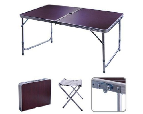 Стол для пикника чемодан + 6 стульев Folding Table, 120*60*70/50см