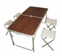 Стол для пикника складной + 4 стульf Folding Table, 120*60*70/50см