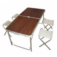Стол для пикника складной + 6 стульев Folding Table, 120*60*70/50см
