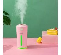 Увлажнитель воздуха и ночник 2 в 1 Starry Sky Cup, встроенный аккумулятор, розовый