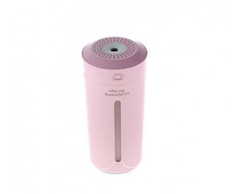 Мини Увлажнитель-ночник Color Cup Humidifier, розовый