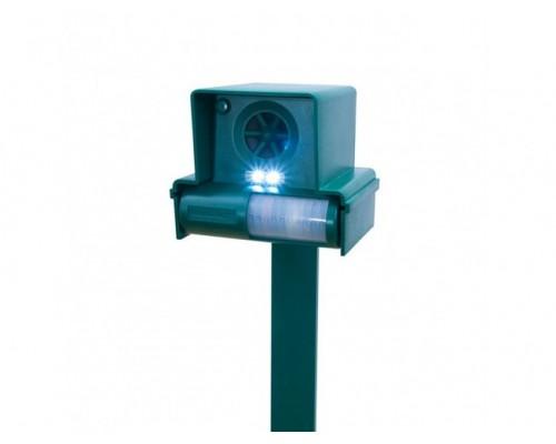 Ультразвуковой отпугиватель собак и кошек со вспышкой Leaven LS-987F, до 85 кв.м.